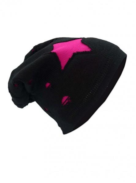 """Bonnet Rock Punk Vixxsin (Evil Clothing) """"Pink Chorstar"""""""