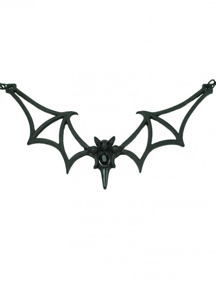 """Collier Gothique Poizen Industries (Evil Clothing) """"Black Bat"""""""