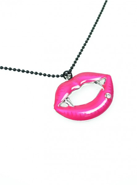 """Collier Gothique Cupcake Cult (Evil Clothing) """"Fangtastic Pink"""""""