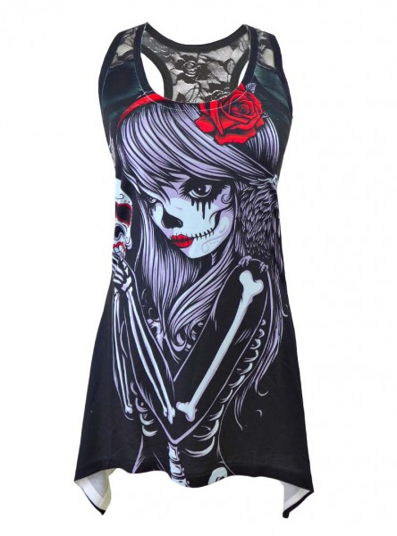 "Débardeur Rock Gothique Vixxsin (Evil Clothing) ""Crow Girl"" - rockangehell.com"
