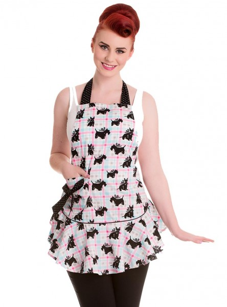 "Tablier Vintage Retro Rockabilly Hell Bunny ""Scottie Dog"""