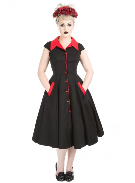 "Robe Rockabilly Gothique HR London ""Meadow"""