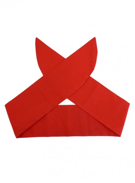 "Foulard Cheveux Rockabilly Gothique Rock Ange'Hell ""Just Red"" - rockangehell.com"