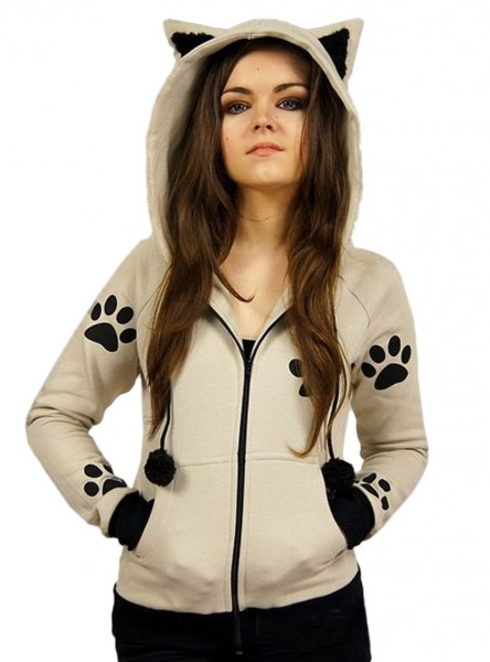 "Sweat Chat Rock Gothique Kawaii ""Cat Paws"" - rockangehell.com"