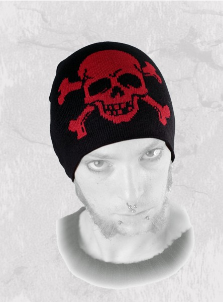 "Bonnet punk rock Queen of Darkness ""Skull & Bones"""