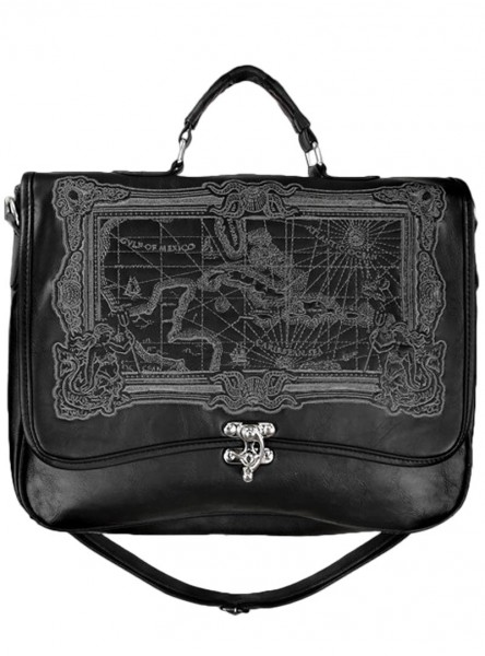 "Sac Cartable Gothique Victorien Restyle ""Black Map"""