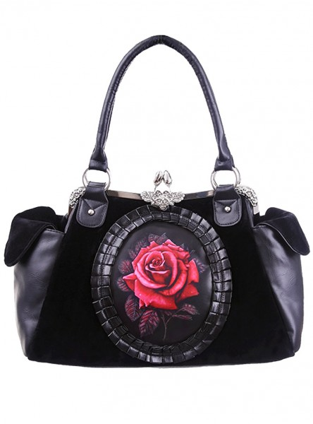 "Sac à main Gothique Lolita Restyle ""Red Rose"""