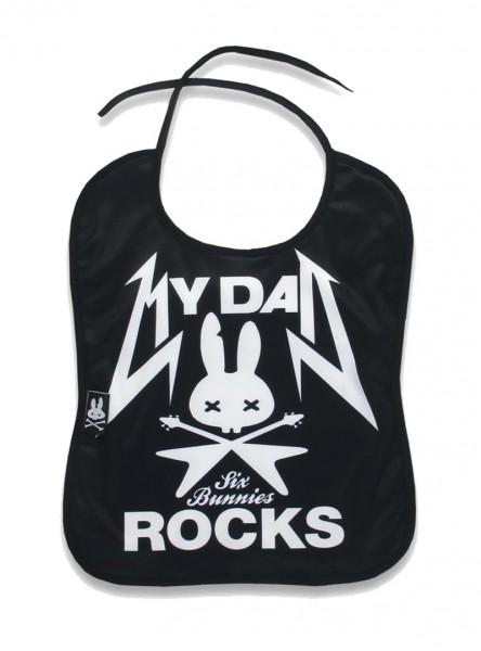 """Bavoir Rock Métal Six Bunnies """"My Dad Rocks"""""""