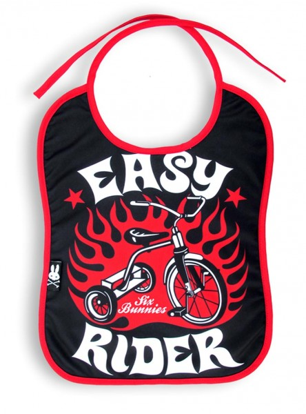 "Bavoir Rockabilly Rock Six Bunnies ""Easy Rider"""