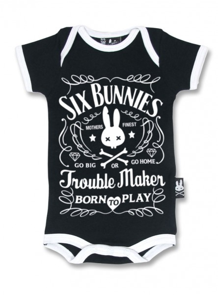 "Body Bébé Rock Six Bunnies ""Troublemaker"""