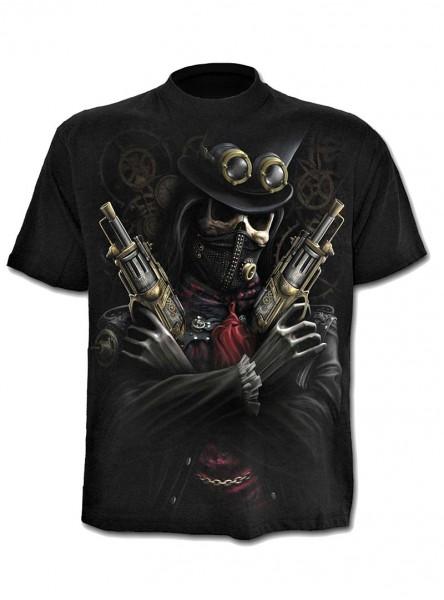 """Tee-shirt homme Punk Rock Spiral """"Steampunk Bandit"""""""
