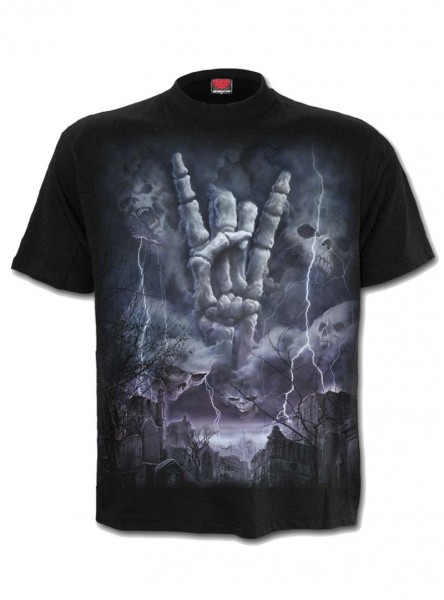 "Tee-shirt homme Rock Gothique Spiral ""Rock Eternal"" - rockangehell.com"