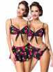 "Haut Push-Up Maillot de bain Bikini Rockabilly Vintage Pin-Up Retro Belsira ""Cherry"" - rockangehell.com"