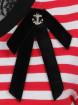 "Top Marin Sailor Retro Rockabilly Banned ""Candy Stripe"" - rockangehell.com"