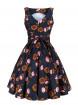 "Robe Rockabilly Années 50 Retro Lady Vintage ""Lotus Flower Tea Dress"" - rockangehell.com"