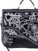 "Sac Cartable Steampunk Gothique Restyle ""Black Mechanism"""