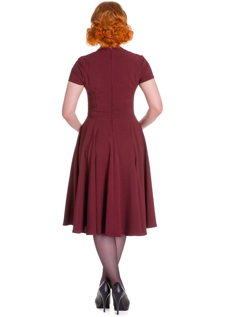 Hell Bunny Robe Années 50 Cocktail Vintage Retro Rouge Noir Bal Mode ...