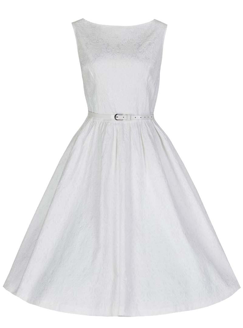 Robe blanche rockabilly - Robe blanche vintage ...