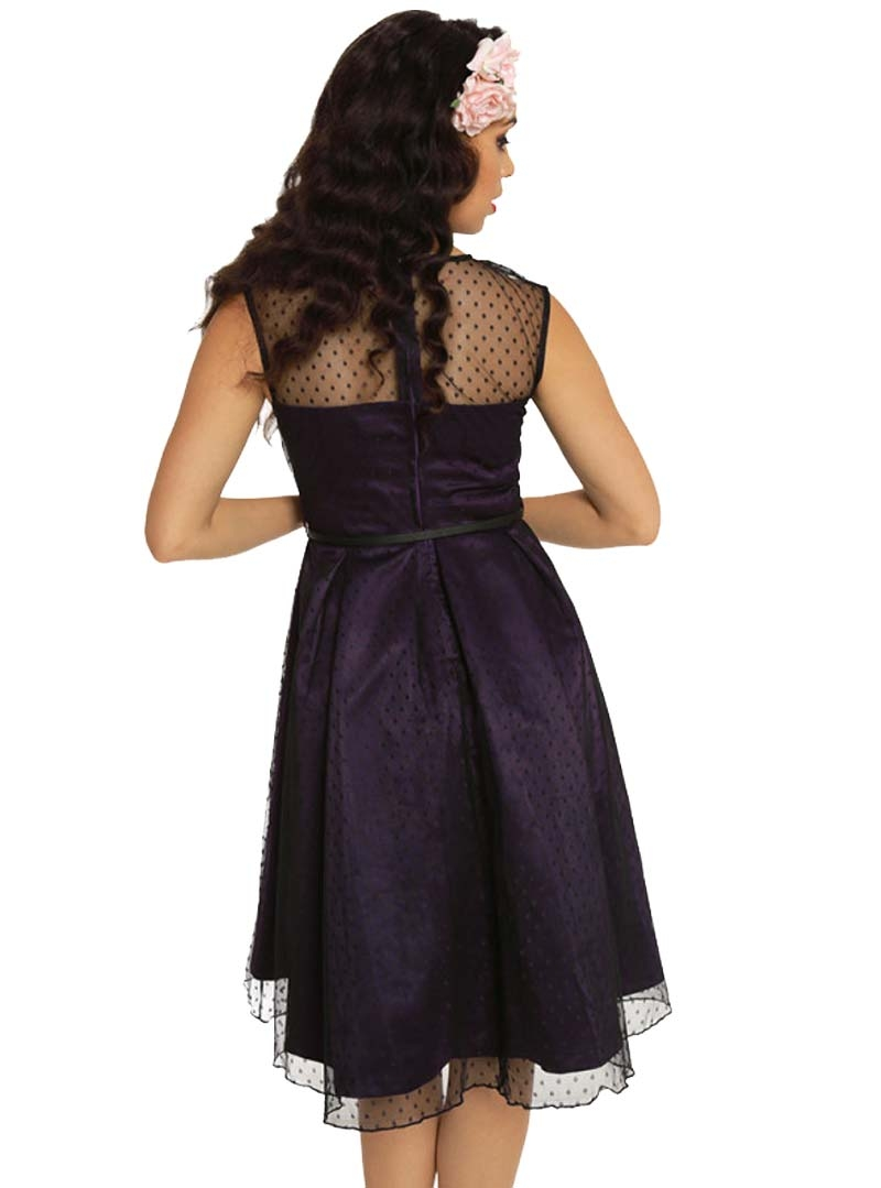 robe soir e mariage rockabilly retro vintage lindy bop aleena purple. Black Bedroom Furniture Sets. Home Design Ideas