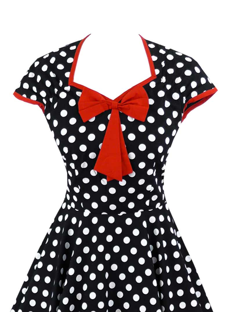 robe pin up rockabilly vintage rock ange 39 hell emma red bow. Black Bedroom Furniture Sets. Home Design Ideas
