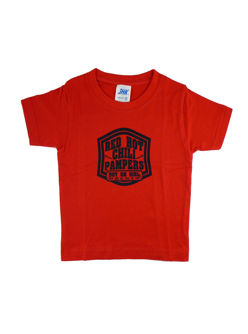 tee shirt rouge rock enfant rock daddy red hot chili pampers. Black Bedroom Furniture Sets. Home Design Ideas