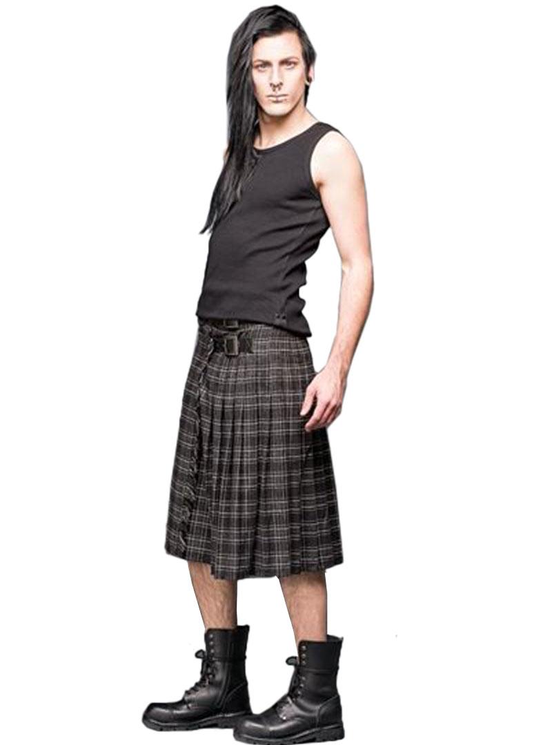 kilt ecossais homme queen of darkness grey tartan