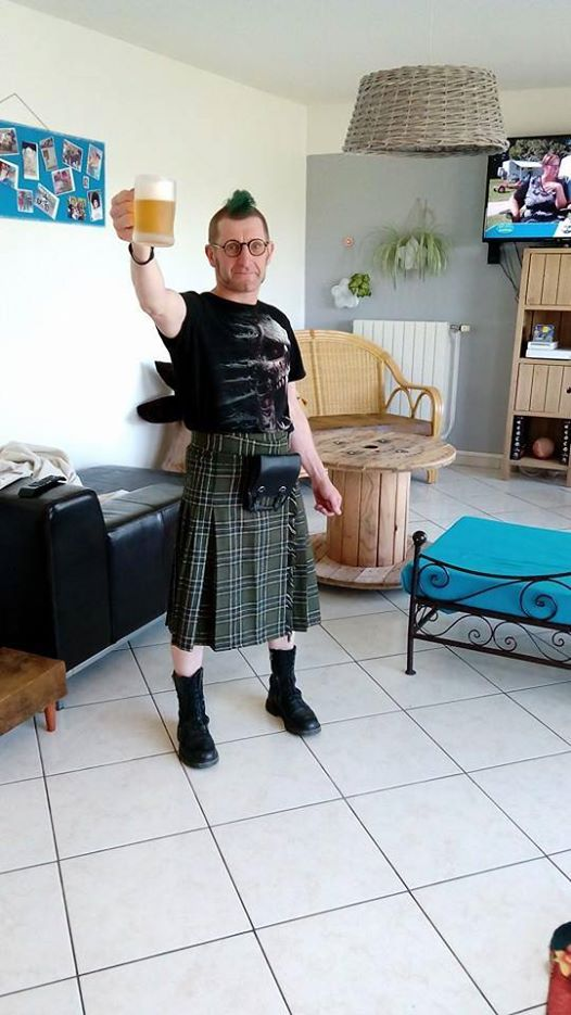 Sacoche pour Kilt punk gothique Queen of Darkness