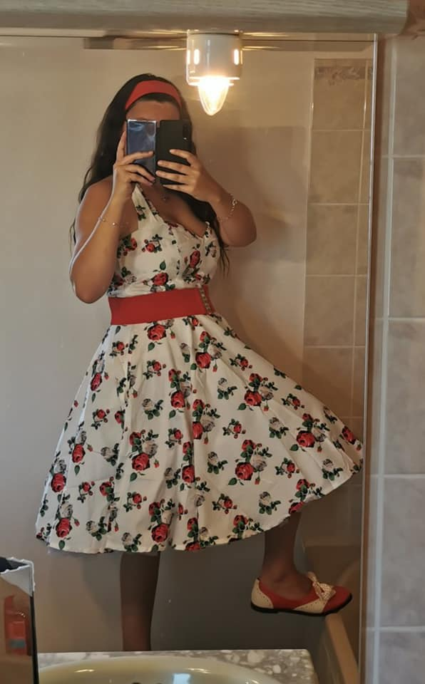 Robe Rockabilly Pin-Up Années 50 Rock Ange