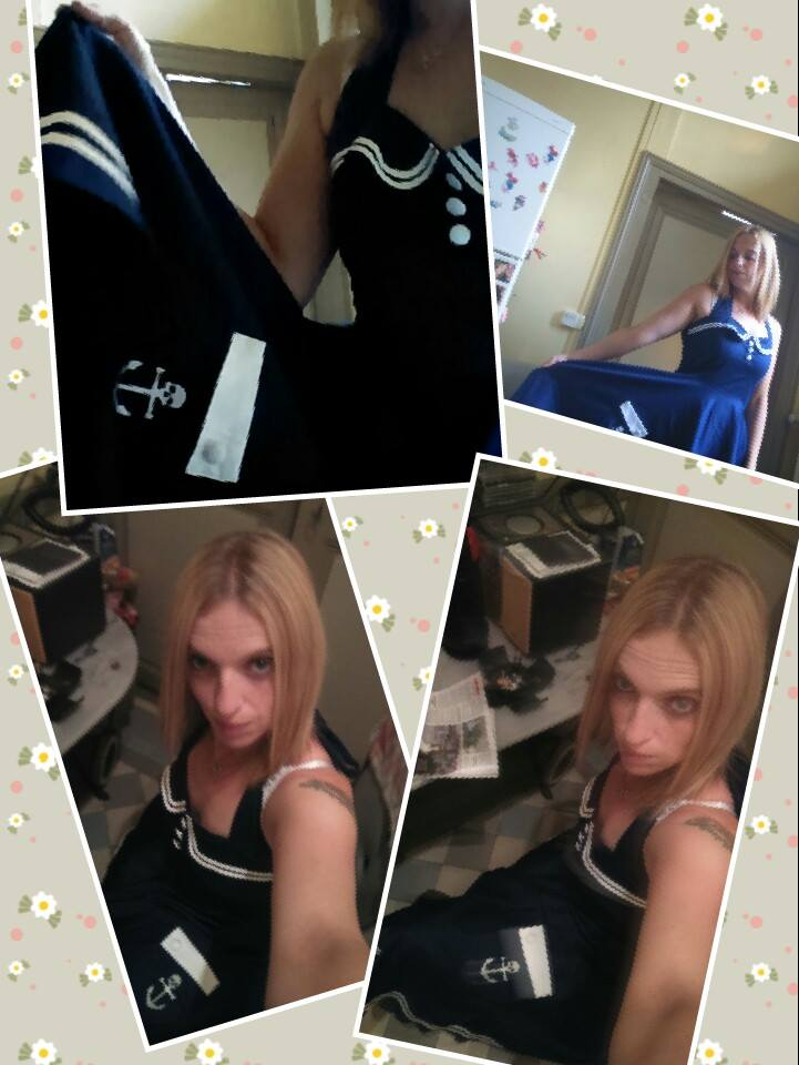 Robe Sailor Rockabilly Vintage Années 50