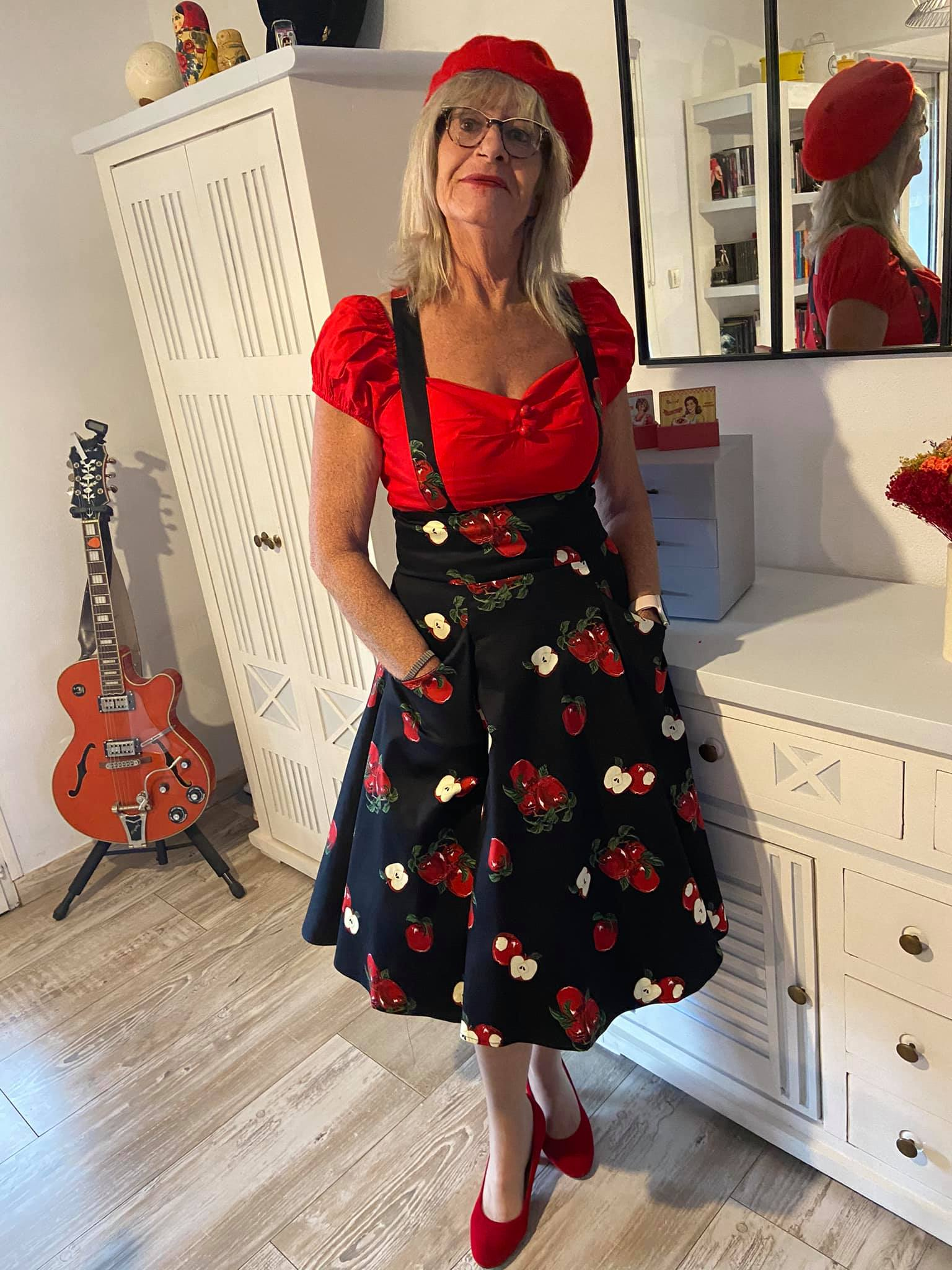 Jupe Swing Retro Rockabilly Pin-Up Années 50 Collectif