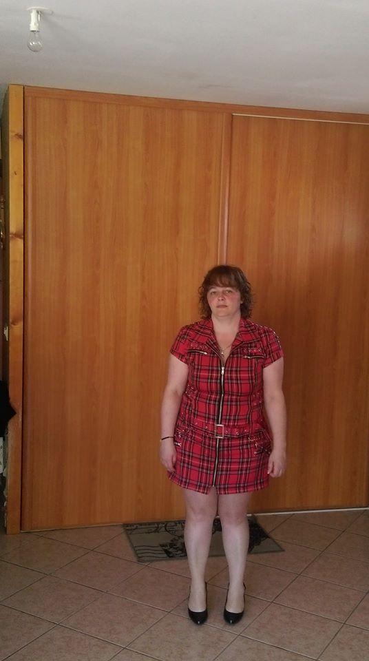 "Robe-tunique punk rock HR London ""Red Tartan Zip Dress"""