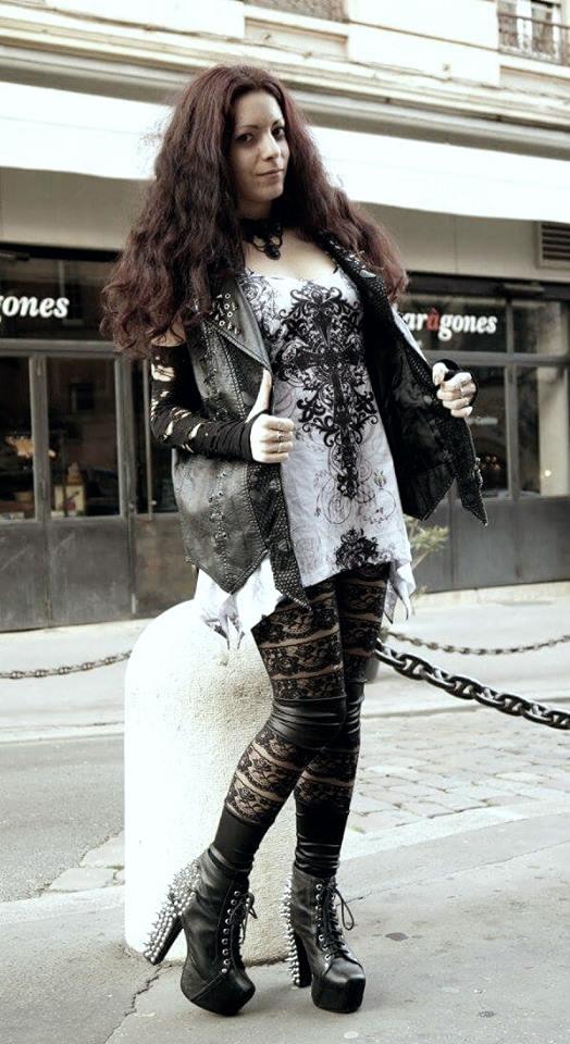 Collier ras du cou Gothique Lolita Black Stones