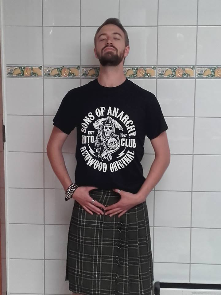 "Tee-shirt Homme Rock Punk Sons of Anarchy ""Moto Club"""