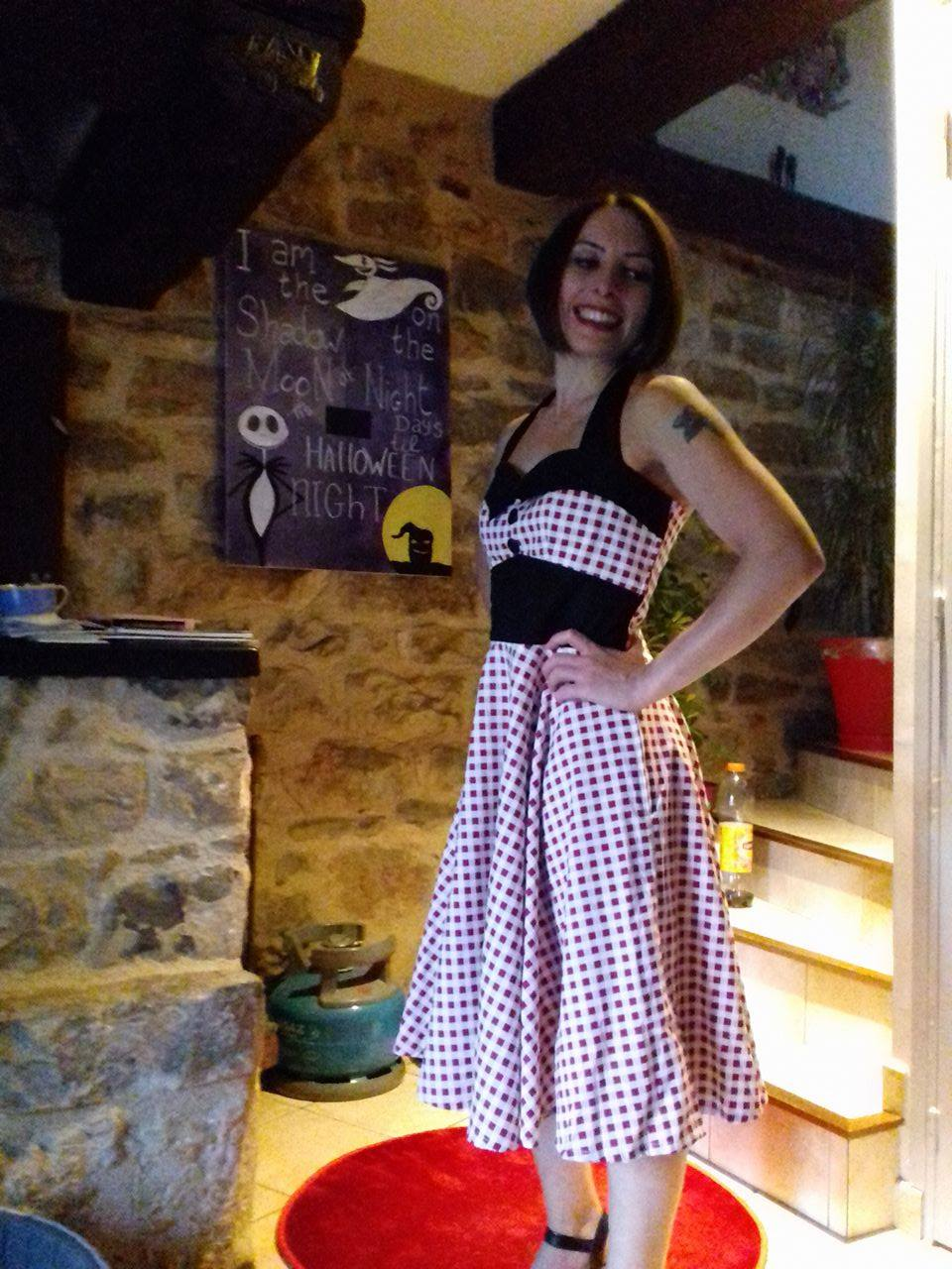 Robe Pin-Up Années 50 Rockabilly Rock Ange'Hell