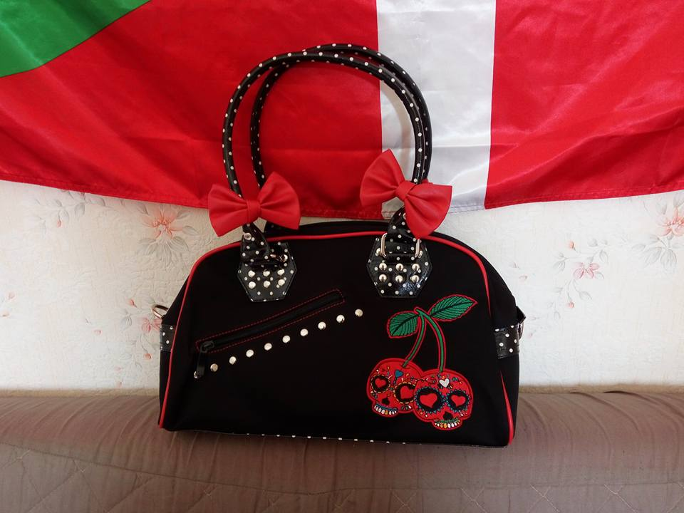 "Sac Rockabilly Vintage Rétro Banned ""Cherry"""