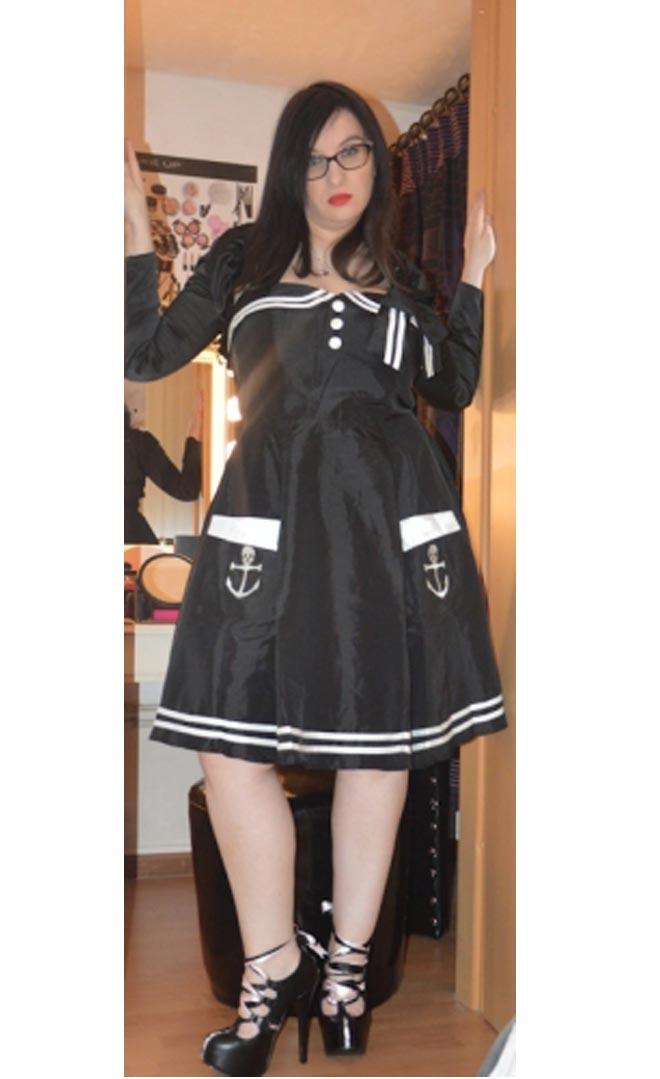 Robe Sailor Marin Pin-Up Rockabilly Retro