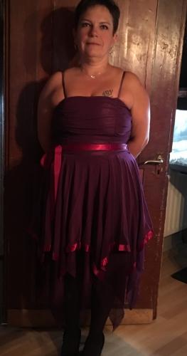 Robe Violette Soirée Mariage Rockabilly
