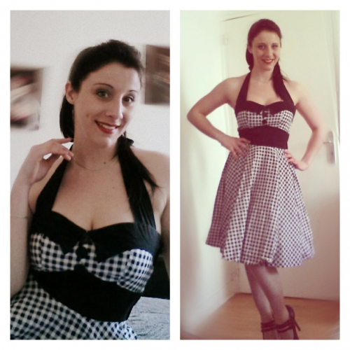 Robe Pin-Up Rockabilly Années 50 Rock Ange