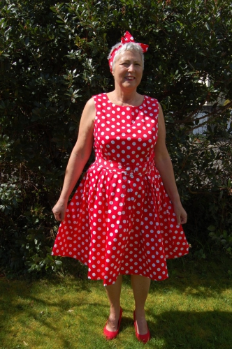 Robe mi-longue Vintage Pin-Up Rockabilly Dolly And Dotty
