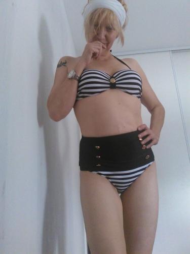 Maillot de bain 2 pièces Bikini Marin Vintage Retro Rockabilly Pin-Up