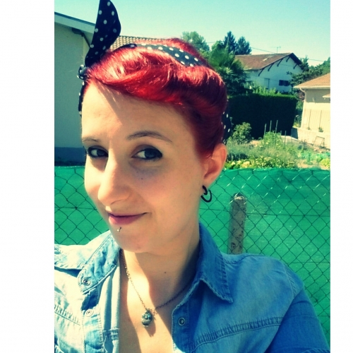 Foulard Cheveux Pin-Up Rockabilly Retro Rock Ange