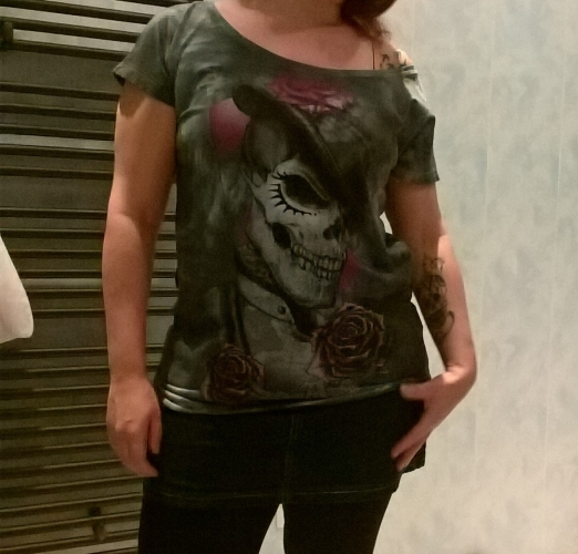 "Tee-shirt Rock Punk Alchemy ""Dead Roses"""