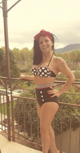 "Haut Maillot de bain Bikini Rockabilly Vintage Retro Pin-Up Belsira ""Emma"""