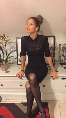 "Robe Crayon Pin-Up Années 50 Rockabilly Collectif ""Wednesday"""
