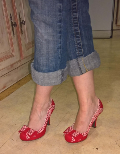 Chaussures Escarpins Années 50 Vintage Rockabilly Ruby Shoo