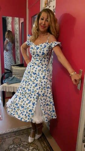 "Robe Rockabilly Pin-Up Collectif ""Eliza Blueberries"""