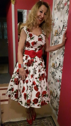 """Robe Pin-Up Rockabilly Retro HR London """"Ditsy Rose Floral"""""""