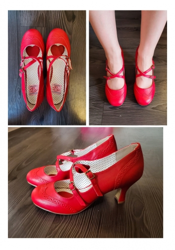 Chaussures Escarpins Rockabilly Vintage Pin Up Couture