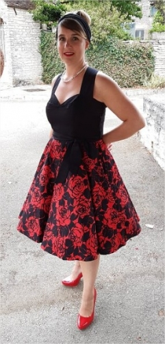 Robe Rockabilly Retro Années 50 Rock Ange'Hell