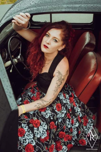 Robe Rockabilly Gothique Rock Ange'Hell